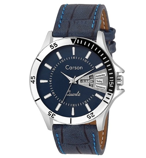 Carson Analogue Blue Dial Mens Watch