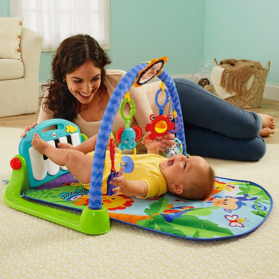 Wonderkart Kick And Play Musical Piano Gym With Hanging Toys