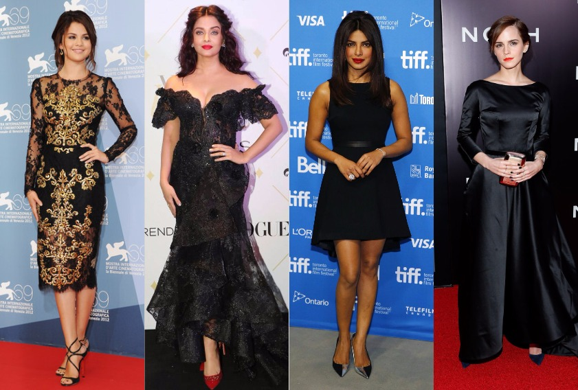 10 Celebrities Show How to Wear Black Gown and Little Black Dress