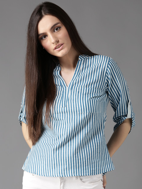 Blue stripped top