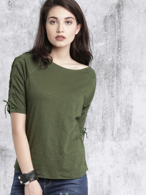 Boat neck T-shirts for women