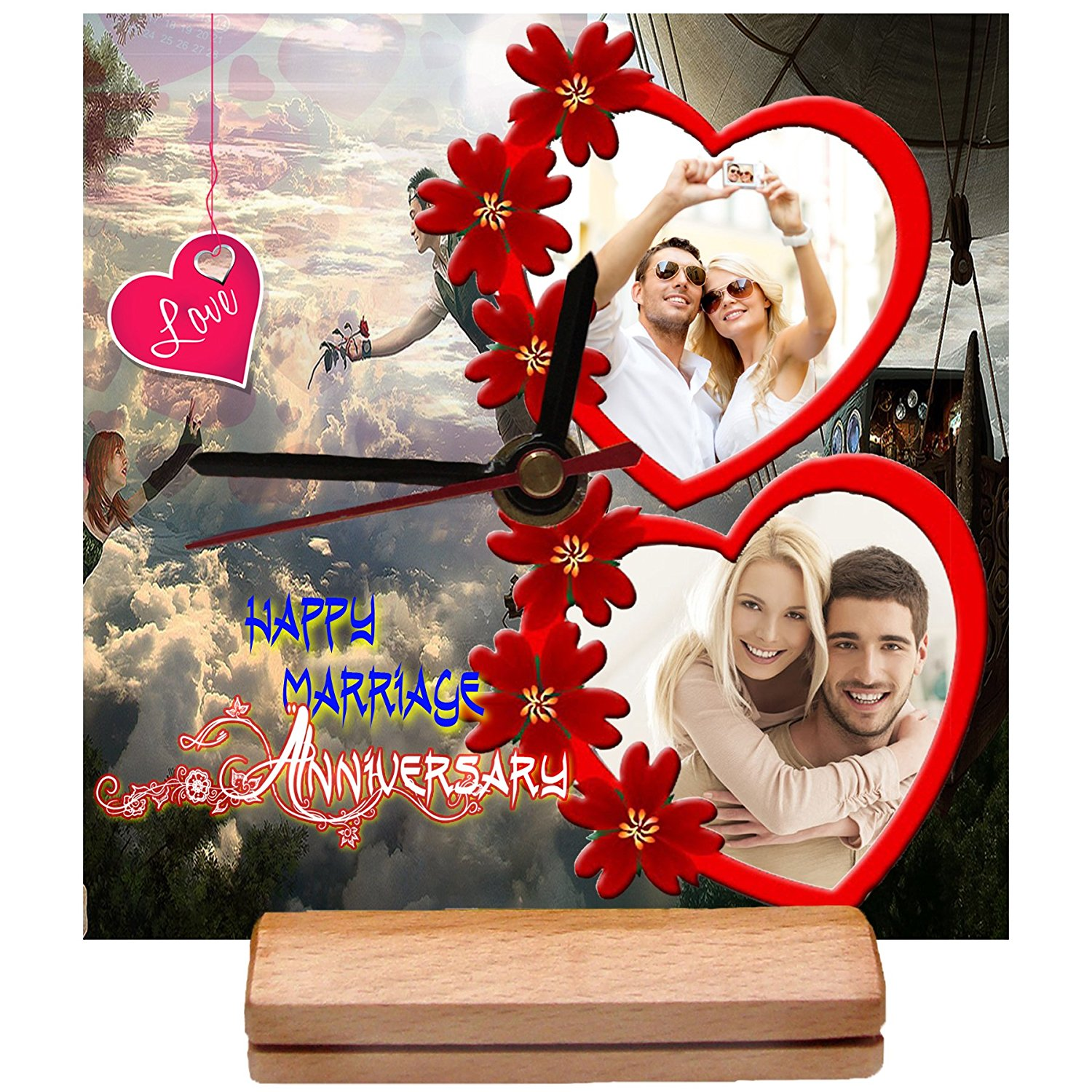 6995e7590f8 20 Best Personalized Wall Clocks with Pictures   Designs for All ...