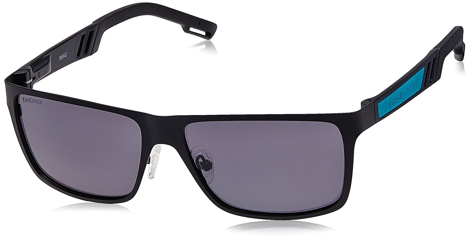 ae84fd836d6 Fastrack UV Protected Wayfarer Unisex Sunglasses - Deal Platter.  Polycarbonate lens with Metal frame  Black ...