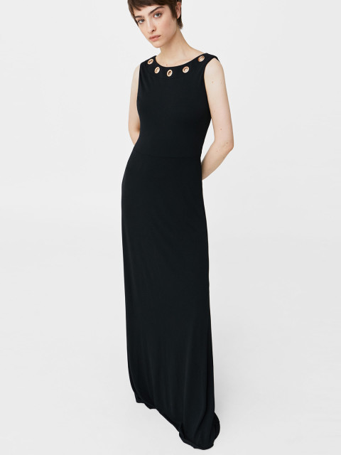 black maxi gown for women