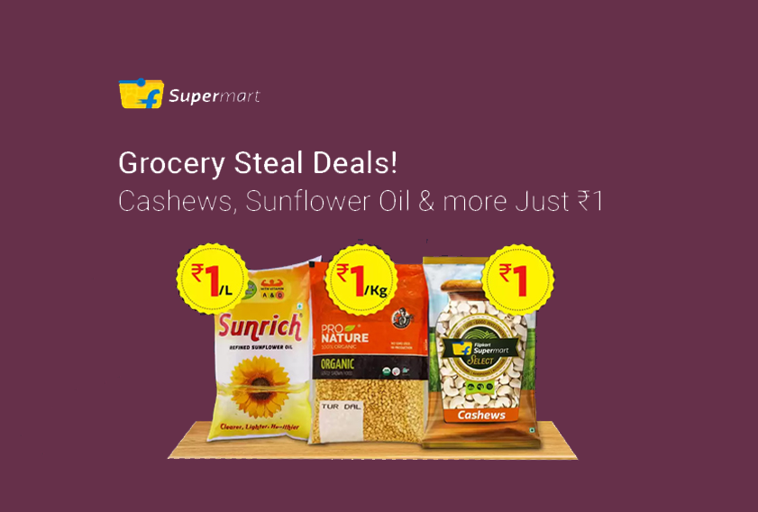 Flipkart Grocery Offers: Things to Buy at Rs. 1