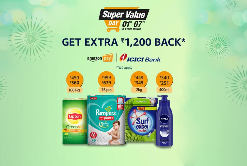 Amazon Super Value Day: 1st to 7th April 2019 | Cashback Offers & Discounts