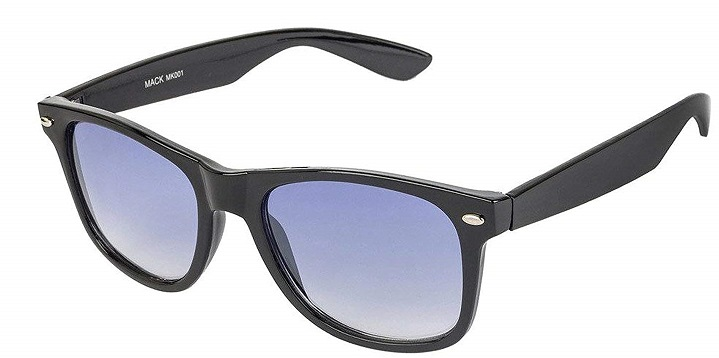UV Protected Wayfarer Blue Lens Unisex Sunglasses