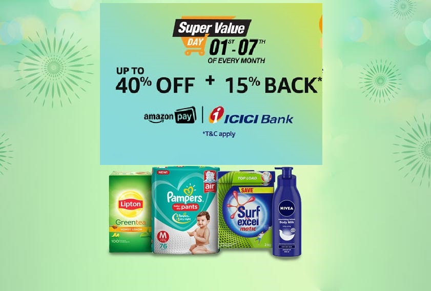 Amazon Super Value Day: 1st to 7th October 2018 | Cashback Offers & Discounts