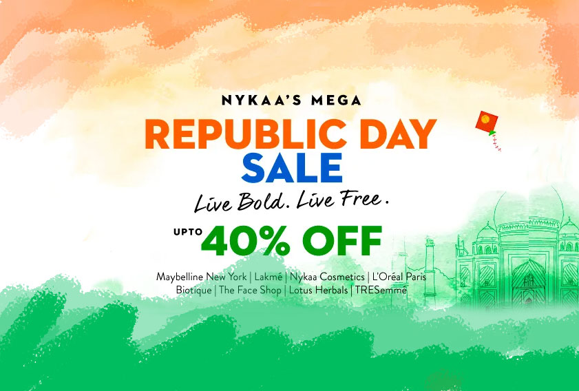 Mega Republic Day Sale: Up to 40% OFF on Nykaa