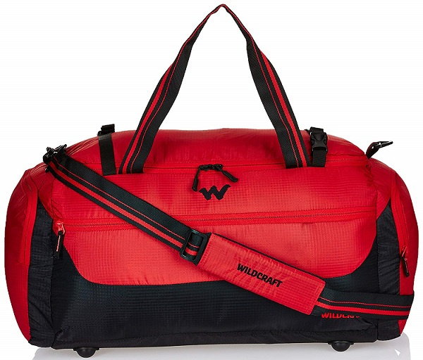 Wildcraft Polyester 58 Cms Red Travel Duffle