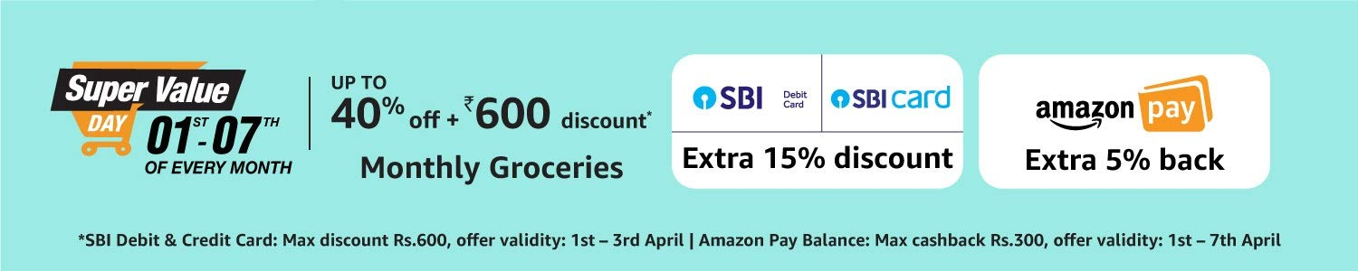 Amazon Super Value Day sale: 1st to 7th Jan 2019