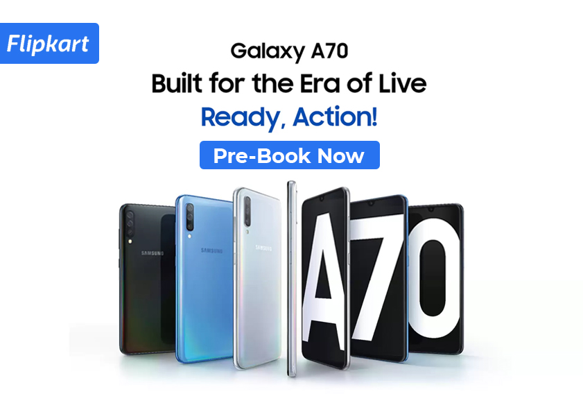 Samsung Galaxy A70 Pre-booking Ends Soon; Offers Available on Flipkart and Samsung Website