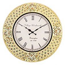 RoyalsCart Handcrafted Wooden Analog Wall Clock for Rs. 1,499