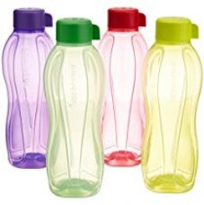Buy Tupperware Aquasafe Water Bottle Set, 1 Litre, Set of 4, Multicolor from Amazon