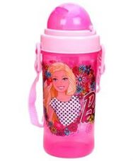 Buy Barbie Sipper Water Bottle Pink Small - 400 ml for Rs. 76