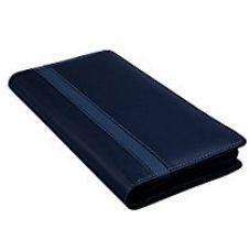 COI Leatherite Cheque Book Holder Document Folder, Black & Grey for Rs. 435