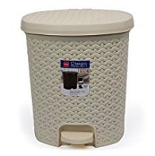 Cello Classic Plastic Pedal Bin, 6 Liters, Ivory for Rs. 525