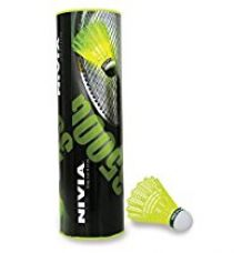 NIVIA Nylon Shuttlecock, Pack of 6 (Yellow/Green) for Rs. 491