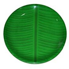 Buy Hua You 8 inch Banana Leaf South Indian Round Ice Cream Starters Serving Melamine Plate For All Occasions from Amazon