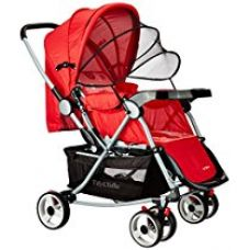 Buy Tiffy & Toffee Baby Stroller Pram with Rocker (Candy Red) from Amazon