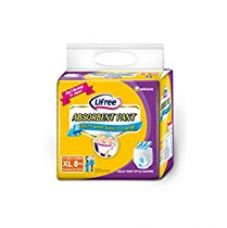 Lifree Adult Pant Style Diaper - XL (35-49 inch) -  8 count for Rs. 424