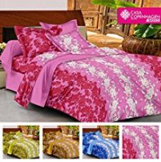 Buy Casa Basic 144 Thread Count Double Bedsheet With 2 Pillow Cover-Purple from Amazon