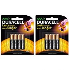 Duracell Alkaline AAA Battery with Duralock Technology - 8 Pieces for Rs. 290