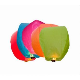 Skycandle Premium Multicolor Skylantern - Pack of 5 for Rs. 113