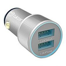 Tukzer Dual USB 3.4 Amp Universal Car Charger (Silver) for Rs. 744