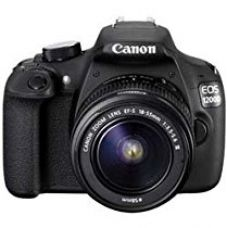 Canon EOS 1200D 18MP Digital SLR Camera (Black) with 18-55mm and 55-250mm IS II Lens,8GB card and Carry Bag for Rs. 36,906