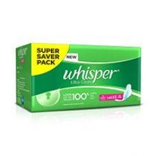 Whisper Ultra Sanitary Pads - XL Wings (30 piece Pack) for Rs. 247