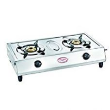 Prestige Agni Classic Stainless Steel 2 Burner Gas Stove, Metallic Silver for Rs. 2,490