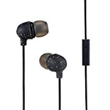 Buy House of Marley Little Bird EM-JE061 In-Ear Headphone With Mic (Black) from Amazon