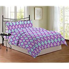 Bombay Dyeing Cynthia 120 TC Polycotton Double Bedsheet with 2 Pillow Covers - Pink for Rs. 599
