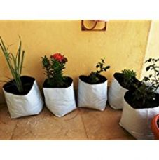 Buy Cocogarden UV Stabilized Poly Growbag Set (24 cm x 24 cm x 40 cm, White, Pack of 8) from Amazon