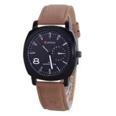 Buy Smc Brown Leather Analog Watch from SnapDeal