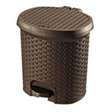 Bel Casa Chic Ginkgo Plastic Basket, Small, White for Rs. 595