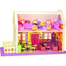 Buy Toyzone My Little Doll House, Multi Color from Amazon