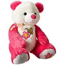 Buy Dimpy Stuff Bear with Flower Embroidery, Hot Pink (55cm) from Amazon