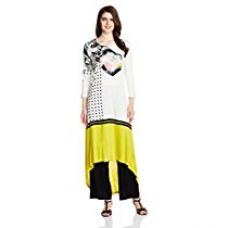 Buy W for Woman Women's Straight Knitted Kurta from Amazon