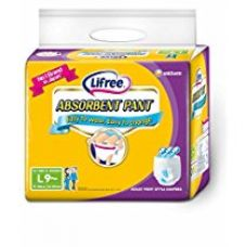 Buy Lifree Adult Pant Style Diaper - L  (30-39 inch) 9 count from Amazon