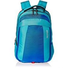 Buy American Tourister 23 Lts Turquoise Blue Laptop Backpack (ZAP 2016) from Amazon