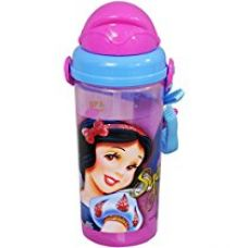 Buy Disney Snow White Plastic Sipper Bottle, 500ml, Pink/Blue from Amazon