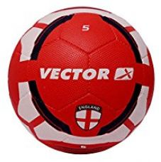 Vector X England Rubber Moulded Football, Size 5 (White/Red) for Rs. 339