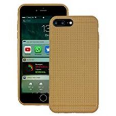 Buy Heartly New Retro Dotted Design Hole Soft TPU Matte Bumper Back Case Cover For Apple iPhone 7 Plus (Not For iPhone 7) - Mobile Gold from Amazon