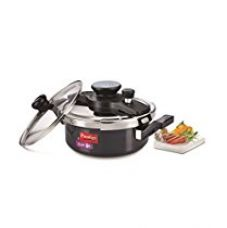 Buy Prestige Clip On Aluminium Pressure Cooker with Glass Lid, 3 Litres, 2-Pieces, Charcoal Black from Amazon