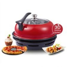 Buy Wonderchef by Chef Sanjeev Kapoor Tandoor Duo Aluminium Gas Oven, 4-Pieces, Red and Black from Amazon