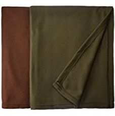 Buy Christy's Collection 2 Piece Polar Fleece Double AC Blanket Set - Green from Amazon