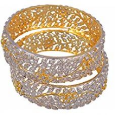 M Creation Gold Plated Bangle Set for Women, Set of 2 (B603) for Rs. 975