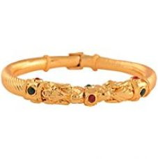 Buy Ganapathy Gems Multi-Colour Gold Plated Bangle for Women (8776_2.4) 8776_2.4 from Amazon